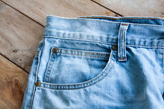 Close up of blue jeans Royalty Free Stock Photography