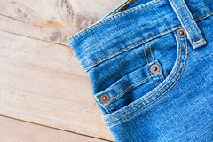Close up of blue jeans Royalty Free Stock Image