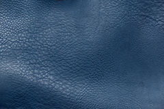 Close up blue leather texture background. Close up leather texture background Royalty Free Stock Photos