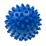 Close-up blue massage ball isolated on white Stock Image