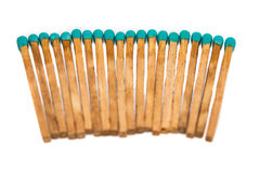 Close-up of a blue matchstick Royalty Free Stock Photo