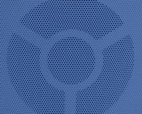 Close Up of Blue Metal Grid Texture Background Stock Photography