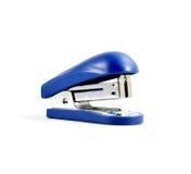 Close up of blue mini stapler Royalty Free Stock Image