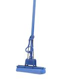Close up of blue mop with sponge. Stock Photography