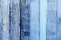 Close-up of blue painted metal surface Royalty Free Stock Photo