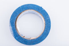 Close up of blue painters tape roll Stock Image