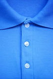 Close up blue Polo T-shirt. Stock Images