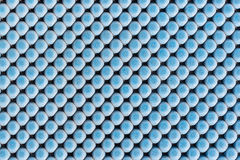 Close up blue rubber texture for non-slip. Royalty Free Stock Photo