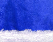 Close up blue Santa Claus hat texture Royalty Free Stock Images