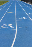Close Up Of Blue School Track Royalty Free Stock Image