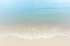 Close up blue sea water waves on white sand beach,Beautiful blue Royalty Free Stock Photos
