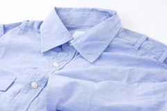 Close Up blue shirts Royalty Free Stock Images