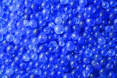 Close-up blue silica gel texture Stock Photos