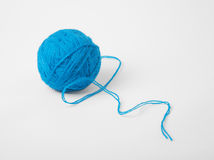Close-up of blue skein with tail Stock Photography