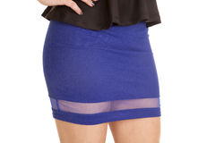 Close up blue skirt sheer Stock Image