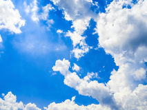 Close up blue sky clouds texture Stock Photography