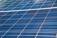 Close up blue solar cell panel for industry Royalty Free Stock Image