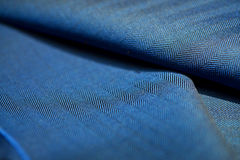 Close up blue texture stripe line black of suit. Photo shoot by depth of field for object stock images