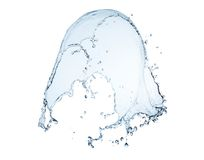 Close up of blue water splash and water drops Royalty Free Stock Photo