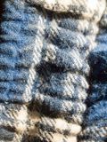 Close up of blue and white fabric texture pajamas Stock Photography