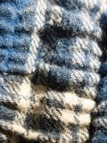 Close up of blue and white fabric texture pajamas Royalty Free Stock Image