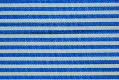Close up on blue and white line fabric Royalty Free Stock Photography