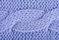 Close-up of a blue woolen pattern Stock Image