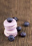Close up of blueberry macaroons Stock Photos