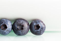 Close up of blueberry on white background. Royalty Free Stock Photo