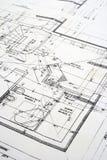 Close up of a blueprint Stock Photo