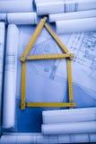 Close up of a blueprint Stock Image