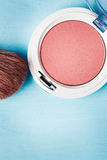 Close-up of Blush with Brush Stock Photography