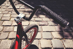 Close-up of bmx bycicle handlebar Stock Photos