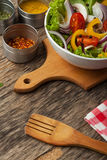 Close up board cooking wood more vegetable ingredient Royalty Free Stock Photos