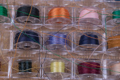 Close up of bobbin threads Royalty Free Stock Photography