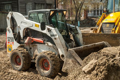 Close up of a bobcat or skid loader Royalty Free Stock Photography