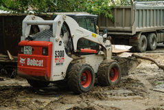 Close up of a bobcat or skid loader Royalty Free Stock Photo