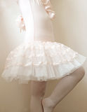 Close up of body little girl wearing ballet dress Stock Images