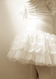 Close up of body little girl wearing ballet dress.  Stock Photography