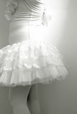Close up of body little girl wearing ballet dress. Stock Photo