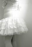 Close up of body little girl wearing ballet dress. Stock Photo