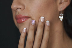 Close up body part portrait of young beautiful woman   Royalty Free Stock Photo