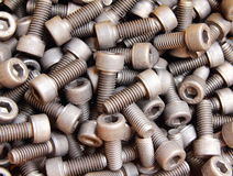 Close up of bolts. The Close up of nuts and bolts In general Stock Photo