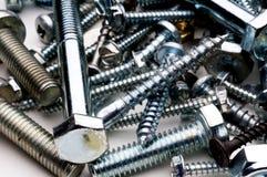 Close-up of bolts and screws Stock Photos
