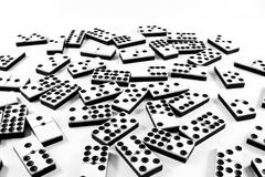 Close Up of Bone and Ivory Dominos Stock Images