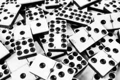 Close Up of Bone and Ivory Dominos Royalty Free Stock Images