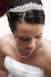 Close-up bonito da noiva Fotos de Stock Royalty Free