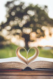 Close up book with heart Royalty Free Stock Images