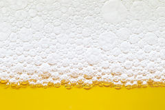 Close up border between the beer and foam Royalty Free Stock Images