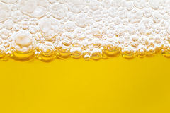 Close up border between the beer and foam Stock Photo